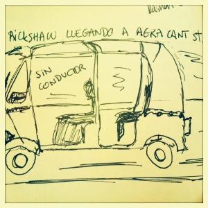 Rickshaw en Agra